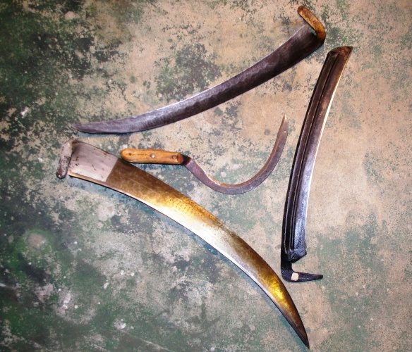 3 scythes and sickle